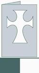 Kaart Latijns kruis rechthoek wit/grijs