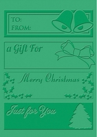 Craft Concepts Embossing folder CR900049 Christmas Tags