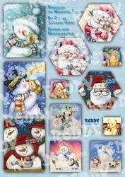 Creatief art RE83770 Watervalkaarten Sneeuwman/Kerstman