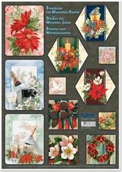 Creatief art RE83773 Watervalkaarten Kerstmis Bloemen