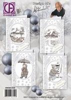Creatief art Staf Wesenbeek SWK85-0040 Kerst sepia