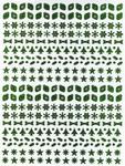 Stickervel Multi-Dots holografisch 204 strik/boom/blad/ster