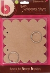 Chipboard album PMA 110108 scalloped square