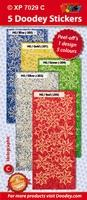 Doodey Stickervel XP7029C Holografische Kerststerren