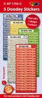 Doodey Stickervel XP7070D Holografische Kerststerren