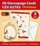 3D Decoupage Cards ZV62703 Kerstmis