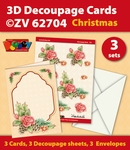3D Decoupage Cards ZV62704 Kerstmis