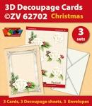 3D Decoupage Cards ZV62702 Kerstmis