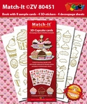Set Boek Match-It® ZV80451 3D Cupcakes