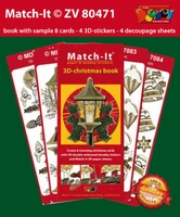 Set Boek Match-It® ZV80471 3D Christmas