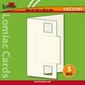 Lomiac Luxe Kaart © LC2101 kaart met vierkant rood