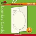 Lomiac Luxe Kaart © LC2102 kaart met ovaal rood