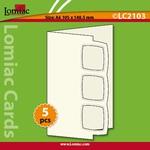 Lomiac Luxe Kaart © LC2103 kaart met 3 kaders blauw