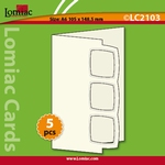 Lomiac Luxe Kaart © LC2103 kaart met 3 kaders ivoor