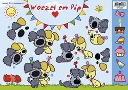 A4 Knipvel Woezel en Pip WP10007 Feest