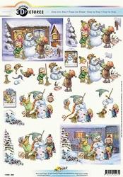 3D Kerstknipvel Universal Pictures 294 Sneeuwman