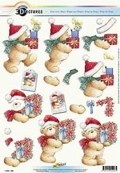 3D Kerstknipvel Universal Pictures 296 Beertje met cado's 1