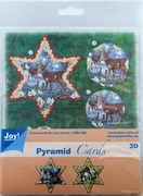 Joy! Pyramid Decoupage 6013/0811 Kerst ster