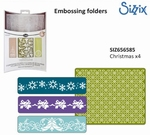 Sizzix textured impressions folder 656585 Christmas