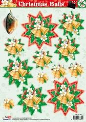 A4 Stansvel Studio Light SL364 Christmas Balls Ster/klokjes
