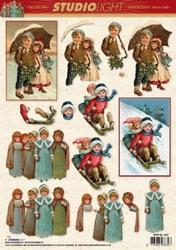 A4 Kerstknipvel Studio Light SL1037 Nostalgie kinderen