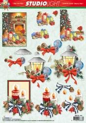A4 Kerstknipvel Studio Light SL1043 Haard/lantaarn/kaarsen