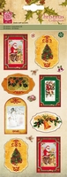 Kars X-mas collection 031/11 3D stickers labels rood
