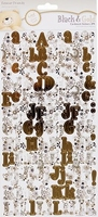 Forever Friends Black & gold 803101 Cardstock stickers