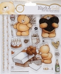 Forever Friends Clear stamps 907104 Black & gold characters