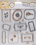 Forever Friends Clear stamps 907102 Black & gold frames