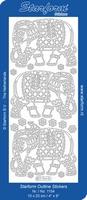 Stickervel Starform Outline 1154  Olifanten