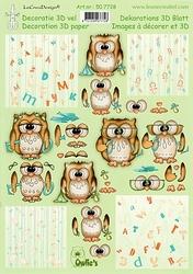 LeCreaDesign A4 Knipvel 507728 Owlie's