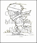 MD clear stamps Don & Daisy DDS3315 Ice skating Don