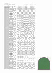 Stickervel Hobbydots Mirror STDM112 green/groen