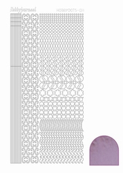 Stickervel Hobbydots Mirror STDM113 candy/roze