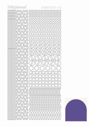 Stickervel Hobbydots Mirror STDM119 Purple/paars