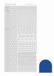 Stickervel Hobbydots Mirror STDM11A blue/blauw