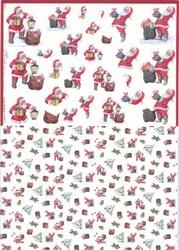 Mireille A4 Knipvel Duo X267 kerstman met zak