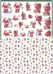 Mireille A4 Knipvel Duo X268 kerstman bij schouw