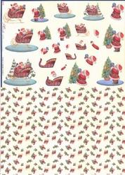Mireille A4 Knipvel Duo X270 kerstman met slee