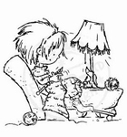 MD clear stamps Don & Daisy DDS3316 Knitting/breien