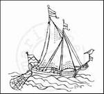MD clear stamps Els Weezenbeek EWS2202 Zeilboot
