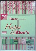 Joy! A5 Paperbloc 6011-0010 Happy rood/groen tinten