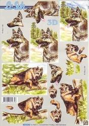 A4 Knipvel Le Suh 8215202 Dieren herdershond