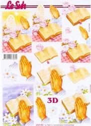 A4 Knipvel Le Suh 4169983 Bijbel, handen, kerk, rozen, lelie