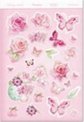 Kreatieve bloemen wenskaarten pastel