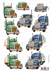 3D Knipvel F&F Cards 8668 Vrachtwagen
