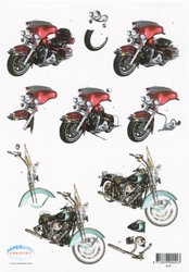 3D Knipvel F&F Cards 8682 moto