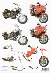 3D Knipvel F&F Cards 8685 Moto