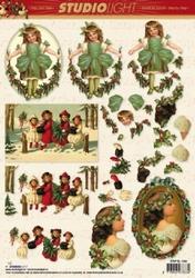 A4 Kerstknipvel Studio Light SL1038 Nostalgie/kinderen